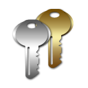 Icon of two keys